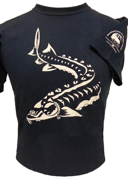 Tshirt Sturgeon Tribal Youth Large Navy (SKU 1042691311)